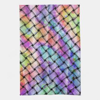 コンテンポラリーで明るい織り方タオル キッチンタオル