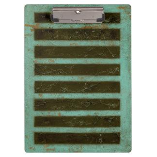 コンテンポラリーなターコイズの空気火格子 クリップボード