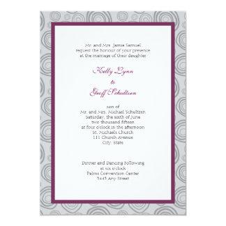 コンテンポラリーな渦巻の結婚式の招待 12.7 X 17.8 インビテーションカード