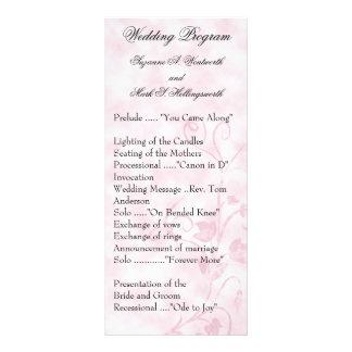 コンテンポラリーな結婚式プログラムのピンク ラックカード