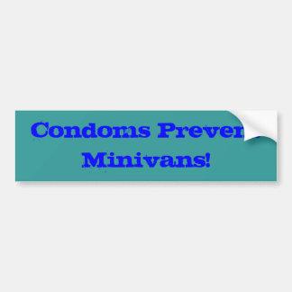 コンドームはミニバンを防ぎます バンパーステッカー