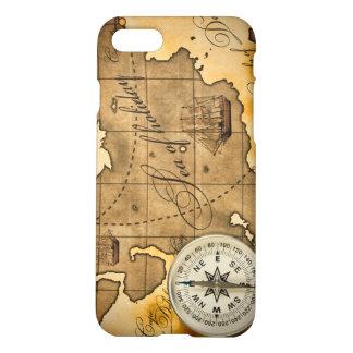コンパスおよび地図のiPhone 7の無光沢の終わりの場合 iPhone 8/7 ケース