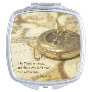 コンパスの世界旅行地図