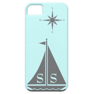 コンパスの日曜日のプレッピーで航海のなヨットはカスタマイズ iPhone SE/5/5s ケース