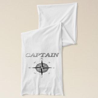 コンパス面図を持つ銀製の大尉 スカーフ