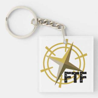 コンパスGeocaching KeychainとのFTF キーホルダー