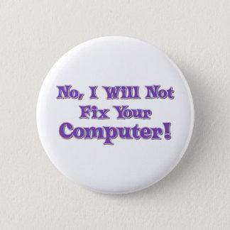 コンピュータについてのおもしろいなことわざ 5.7CM 丸型バッジ