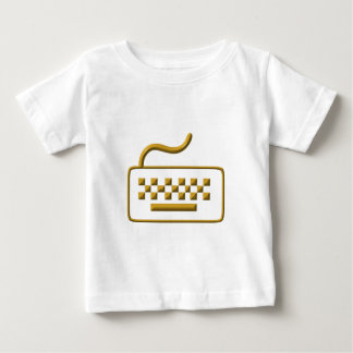 コンピュータのキーボード ベビーTシャツ