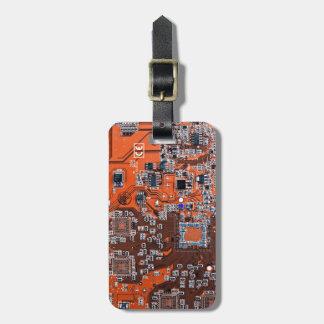 コンピュータギークのサーキットボード-オレンジ バッグタグ