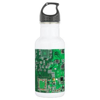 コンピュータギークのサーキットボード-緑 ウォーターボトル