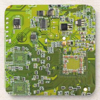 コンピュータギークのサーキットボード-金ゴールド コースター