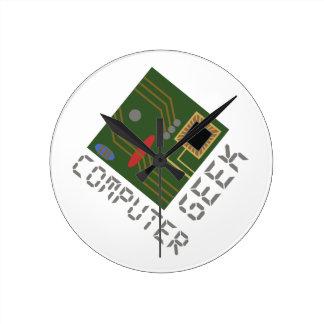 コンピュータギーク ラウンド壁時計
