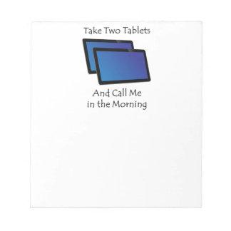 コンピュータタブレット- 2つを取って下さい ノートパッド