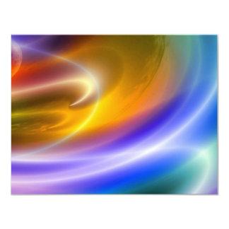 コンピュータデジタル抽象芸術の招待の招待状 カード