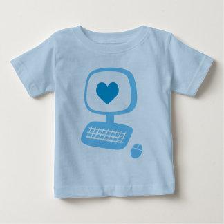 コンピュータハートの乳児のTシャツ ベビーTシャツ
