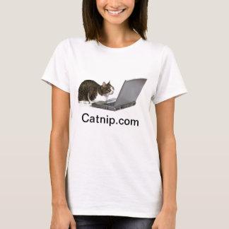 コンピューターのCatnip.comの猫 Tシャツ