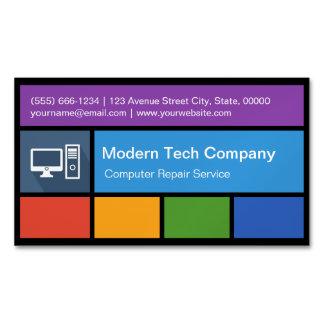 コンピュータ修理小売商-創造的なカラフルのタイル マグネット名刺 (25枚パック)