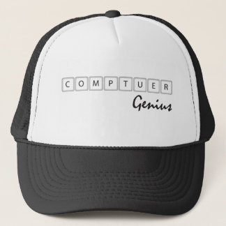 コンピュータ天才 キャップ