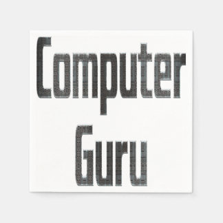 コンピュータ教祖の灰色 スタンダードカクテルナプキン
