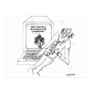 コンピュータ漫画9328 ポストカード