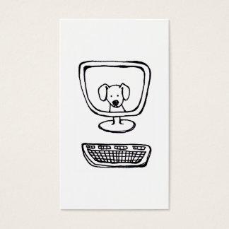 コンピュータ犬-新しい芸術を引くおもしろいの新しいインク 名刺