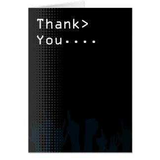 コンピュータ画面のパーティーのテーマは感謝していしています カード