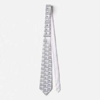 コンピュータ白いキーボードのタイ オリジナルネクタイ