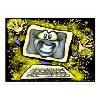 コンピュータ衝撃 ポストカード