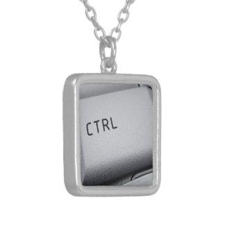 コンピュータ鍵のネックレス シルバープレートネックレス