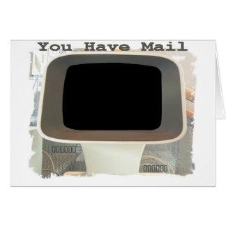 コンピュータ電子メールの挨拶 カード