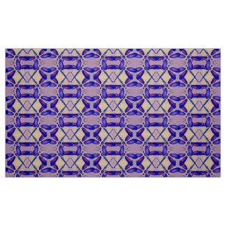 コンピュータ・アートのトンボ(紫色) ファブリック