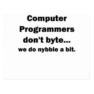 コンピュータ・プログラマーはbyte.png ポストカード