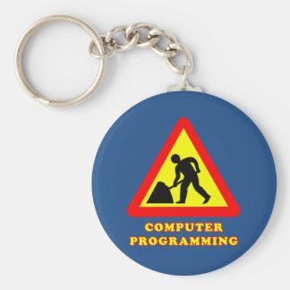 コンピュータ・プログラミングのおもしろいな交通標識のユーモア キーホルダー