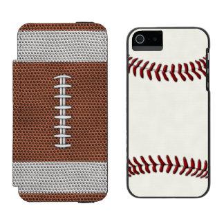 コンボフットボールの野球 iPhone SE/5/5sウォレットケース