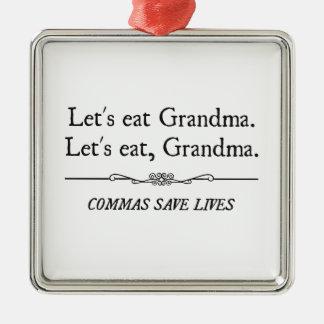 コンマが生命を救う祖母を食べよう メタルオーナメント