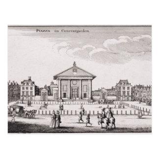 コヴェント・ガーデン1647年の広場(版木、銅版、版画) ポストカード