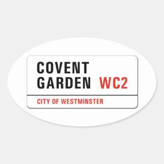 コヴェント・ガーデン、ロンドンの道路標識 楕円形シール