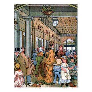 """""""コヴェント・ガーデン、ロンドン""""のヴィンテージのイラストレーション ポストカード"""