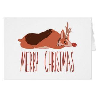 コーギーのクリスマスカード カード
