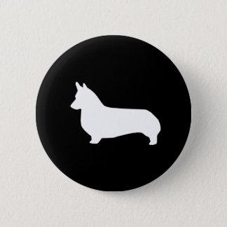 コーギーのシルエットボタン-コーギー犬ボタン 缶バッジ