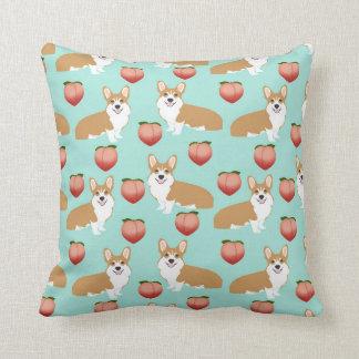 コーギーのモモのEmojiの枕-ミント クッション