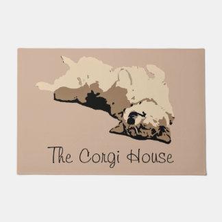 コーギーの家 ドアマット