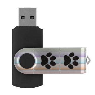 コーギーの足のプリント USBフラッシュドライブ