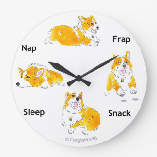 コーギー時間時計 ラージ壁時計