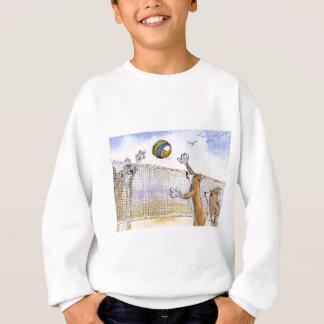 コーギー犬のビーチバレー スウェットシャツ