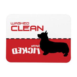 コーギー犬、舐められたきれい-子犬のディッシュウォッシャーの磁石 マグネット