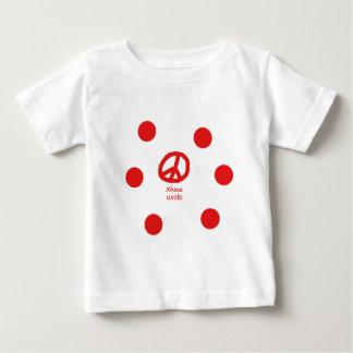 コーサ族の言語およびピースマークのデザイン ベビーTシャツ