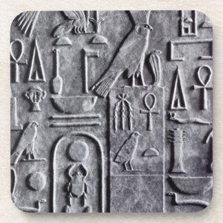 コースターのエジプト学のエジプト人のAnkhのオオタマオシコガネの記号 コースター
