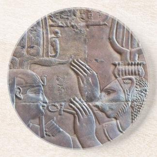 コースターを切り分ける古代エジプトの象形文字 コースター