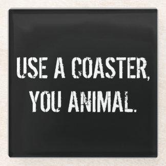 コースター、動物の飲み物のコースター使用して下さい ガラスコースター